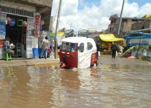 Las calles inundadas de Juliaca.