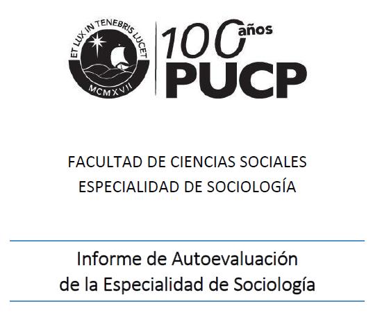 Informe de Autoevaluación Sociología