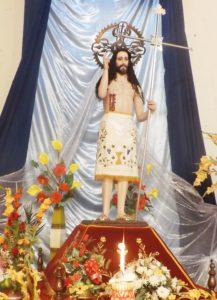 Imagen del Señor del Costado en las vísperas de la Feria