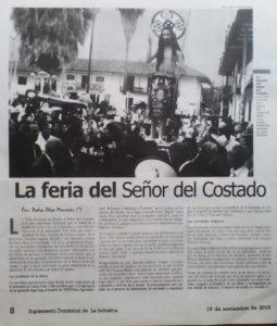 Dominical de La industria publicó el artículo.