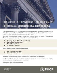 Grupo de trabajo de reforma al Código Procesal Constitucional