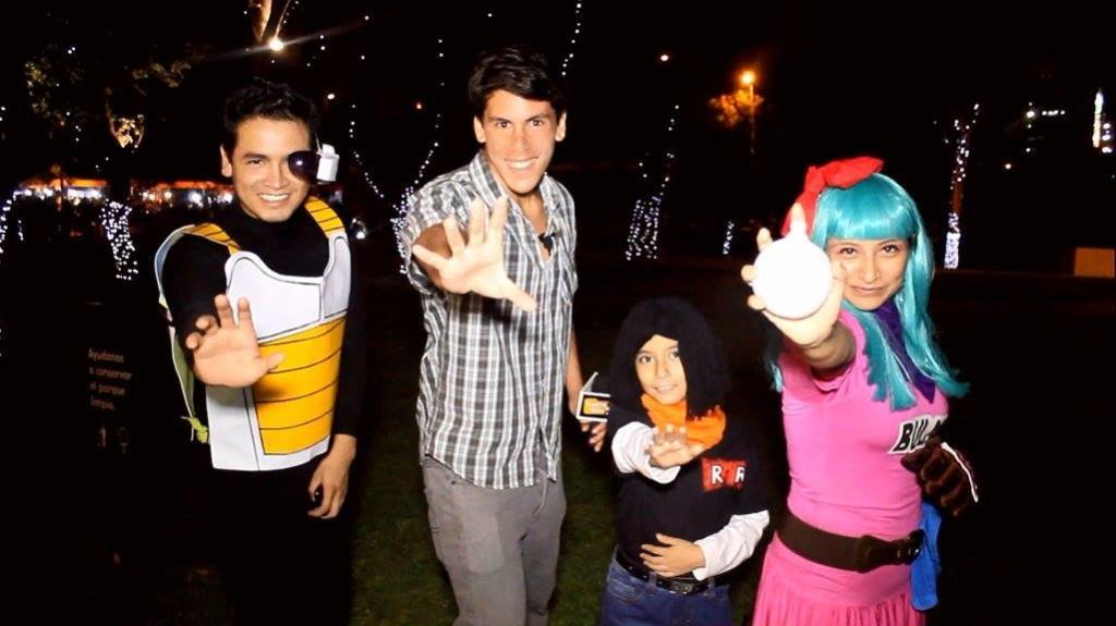 Aarón Medina en el II Dragon Ball Fest organizado por Lagarto Azul Producciones en el Circuito Mágico del Agua de la Municipalidad de Lima