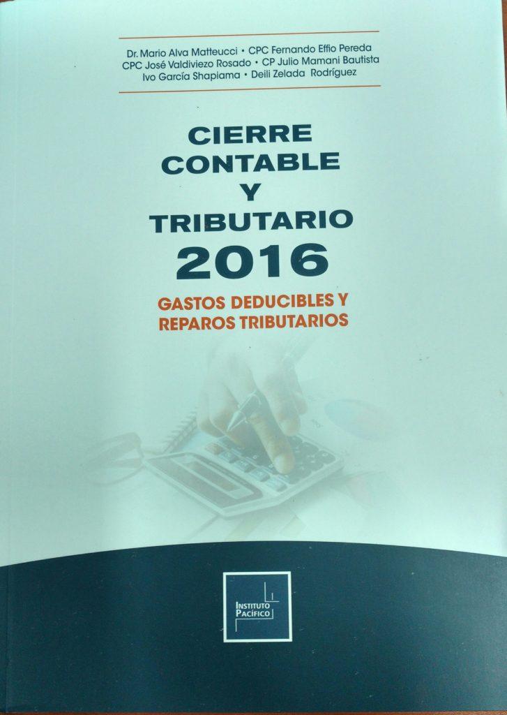 CIERRE TRIBUTARIO 2016