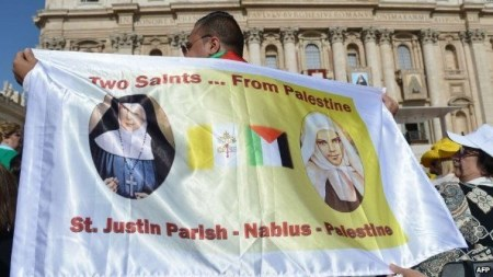 Papa Francisco canoniza religiosas palestinas