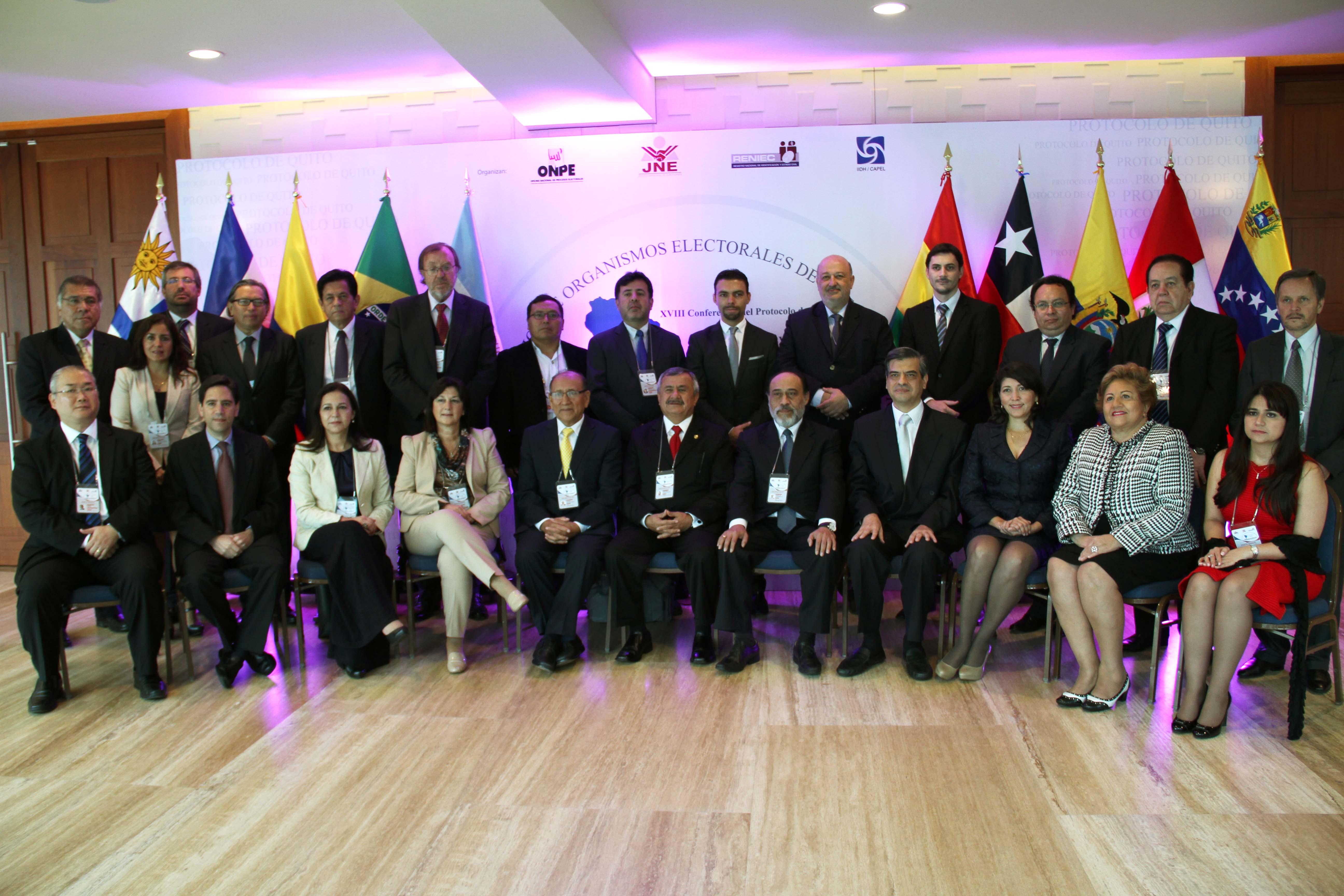 XVIII Conferencia de la Asociación de Organismos Electorales de América del Sur - asistentes 21mayo2015