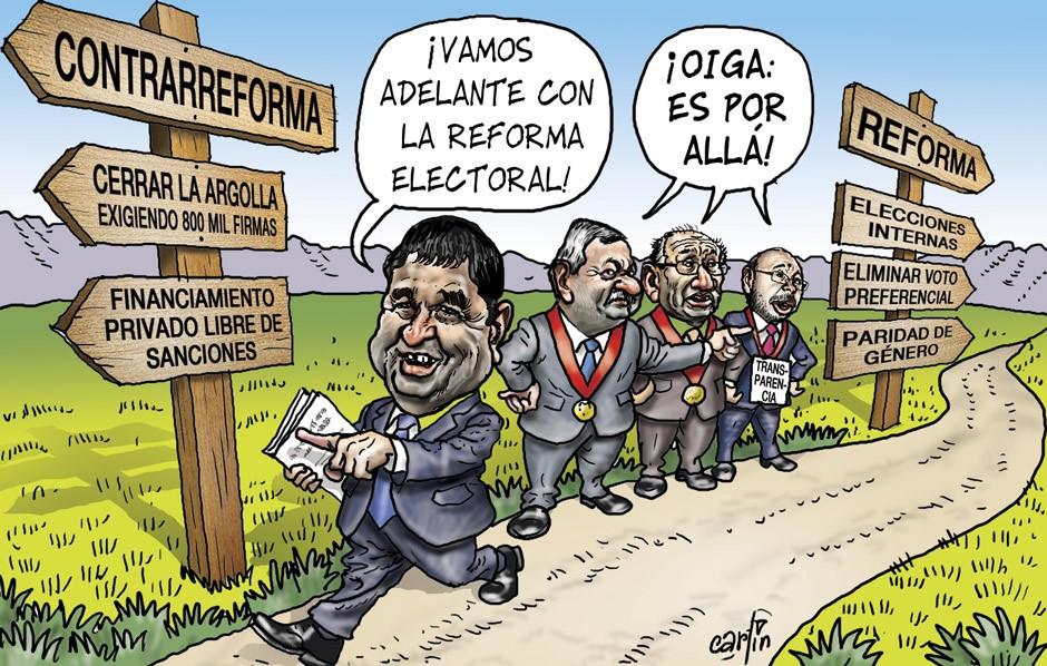 La reforma electoral y su prioridad en el Congreso, según la perspectiva de Carlín. La República, 16 de setiembre de 2015.