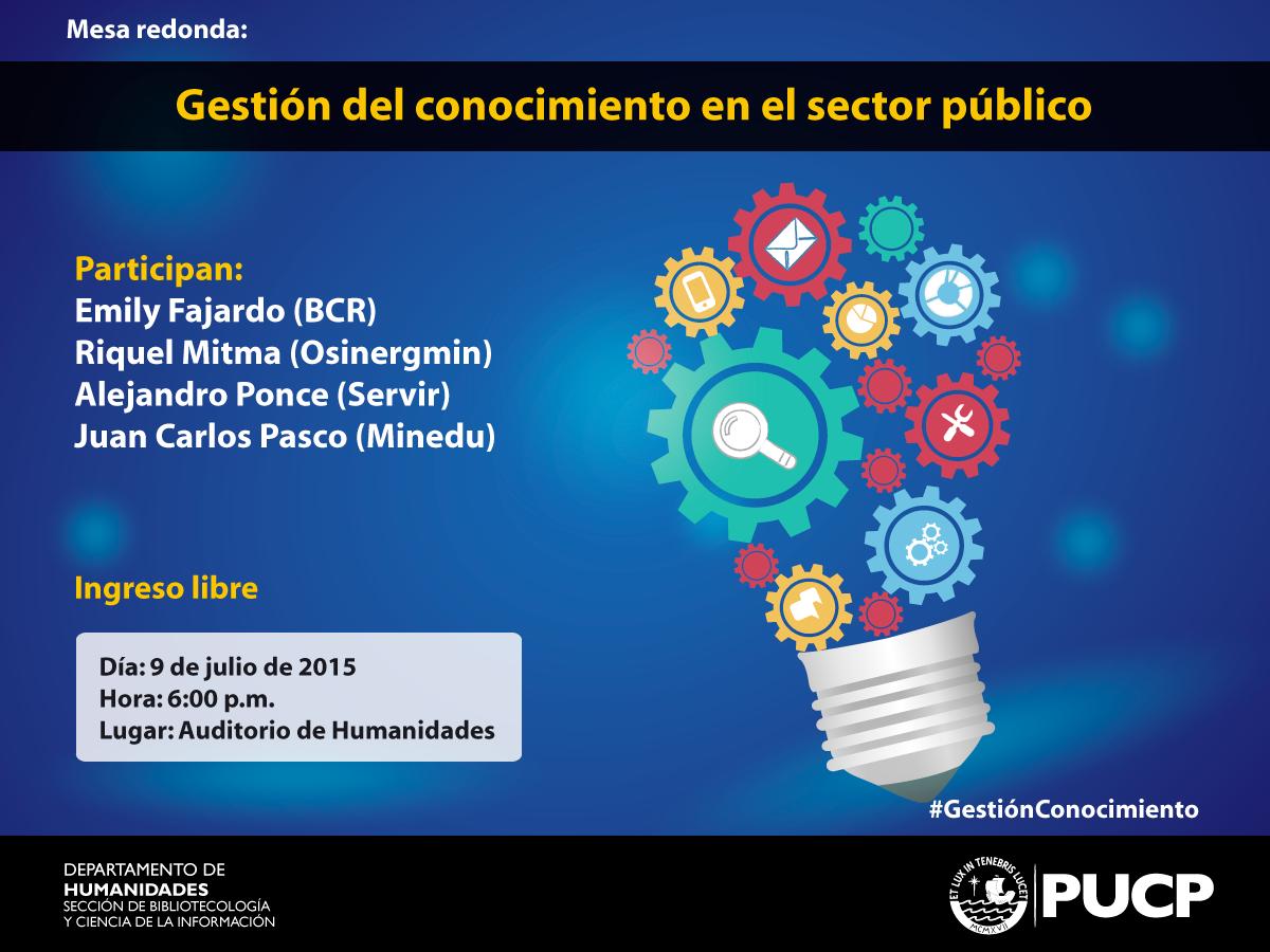 Mesa redonda | Gestión del Conocimiento en el Sector Público | Blog