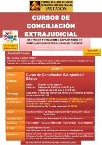CURSO DE CONCILIACION EXTRAJUDICIAL - AGOSTO - 2015