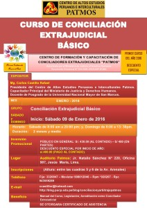 banner CURSO DE CONCILIACION EXTRAJUDICIAL - ENERO 2016
