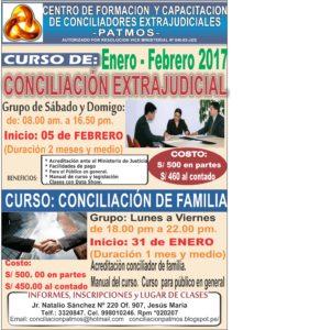 CURSO DE CONCILIACION EXTRAJUDICIAL- enero - FEBRERO 2017