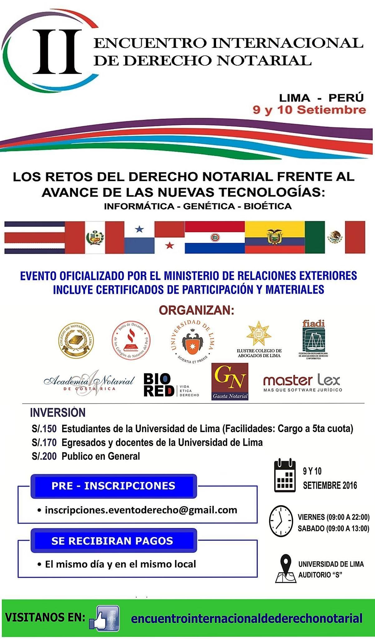 II ENCUENTRO INTERNACIONAL DE DERECHO NOTARIAL
