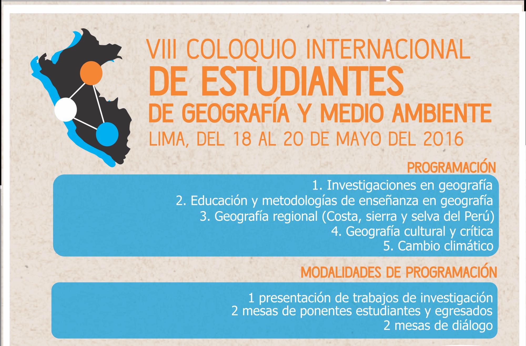 VIII Coloquio de Estudiantes de Geografía y Medio Ambiente