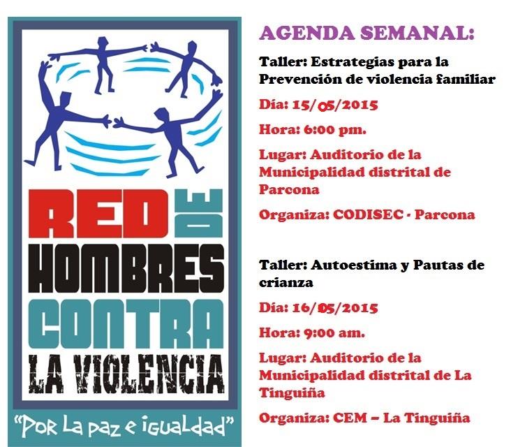 Agenda de la Red de Hombres Contra la Violencia de Ica