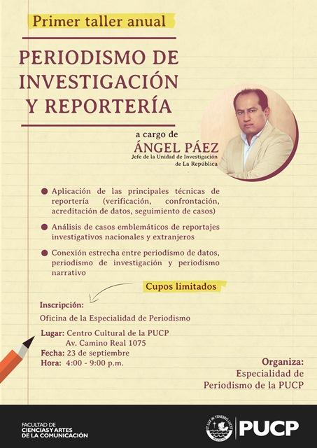 afiche taller periodismo