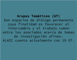 GRUPOS TEMÁTICOS - ALAIC 2018