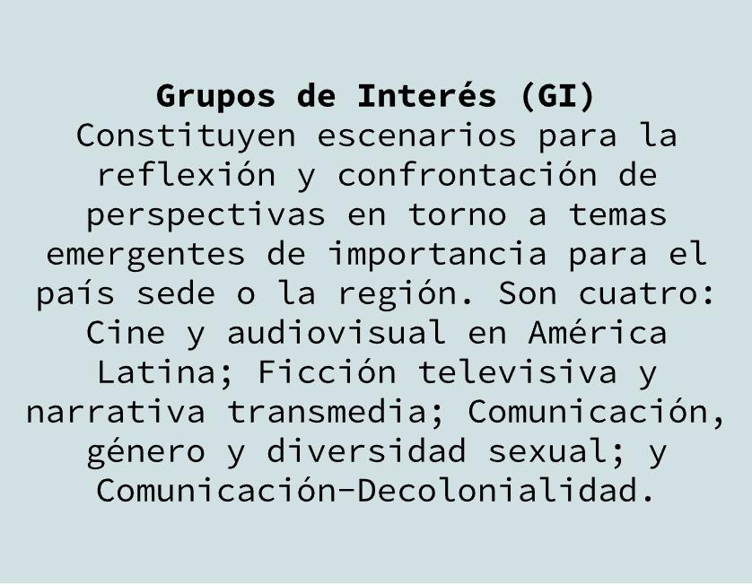 GRUPOS DE INTERÉS - ALAIC 2018