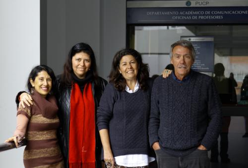 Orietta Marquina, Gabriela Núñez, Margarita Ramírez y Abelardo Sánchez León