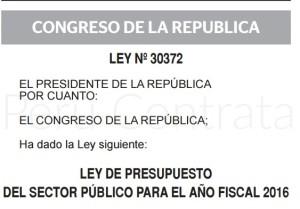 Ley Presupuesto 2016
