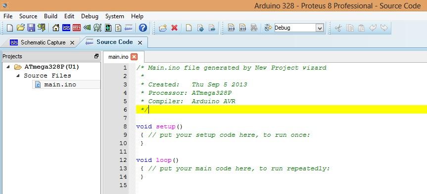 Simulación y programación de Arduino desde Proteus | Tópicos
