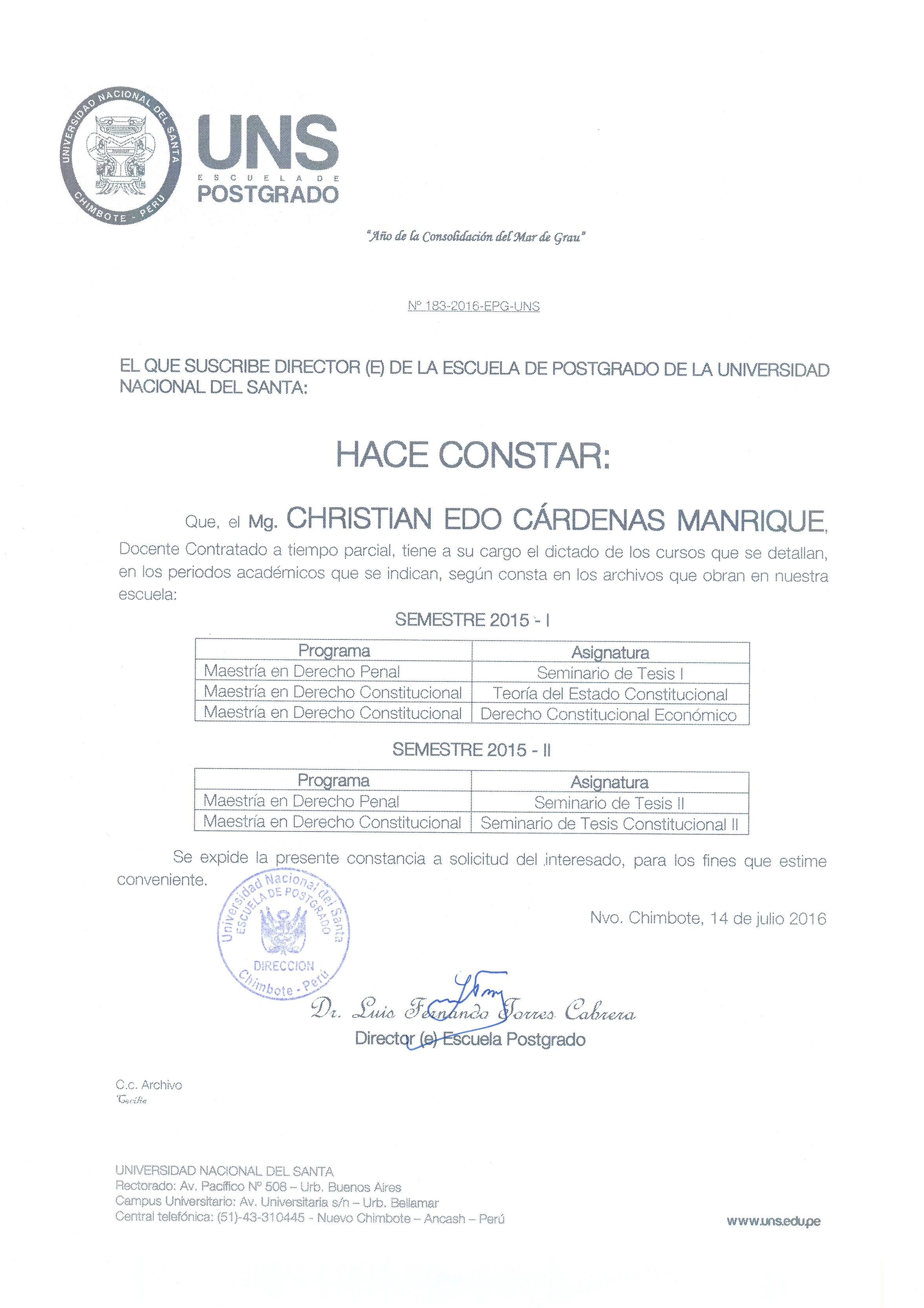 Sin categor a christian c rdenas manrique for Concurso de docencia 2016