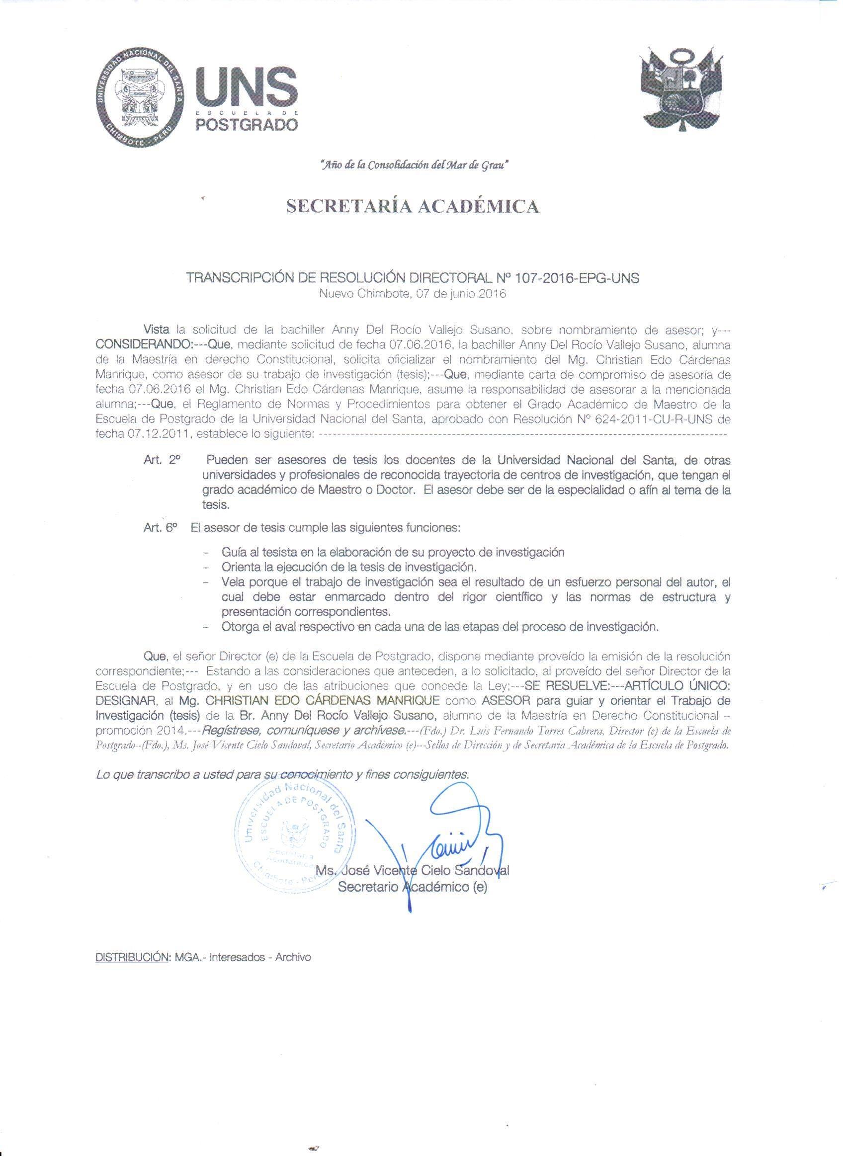 Constancia de docencia posgrado y de asesor de tesis for Resolucion docentes 2016