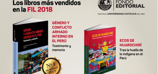 Nuestros diez títulos más vendidos en la Feria Internacional del libro de Lima 2018