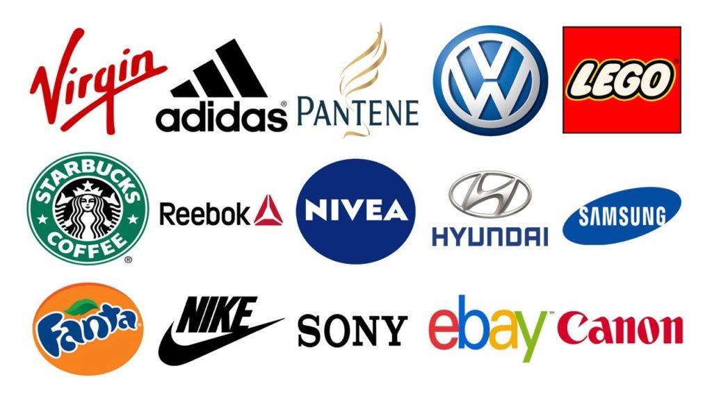 Diferentes marcas conocidas