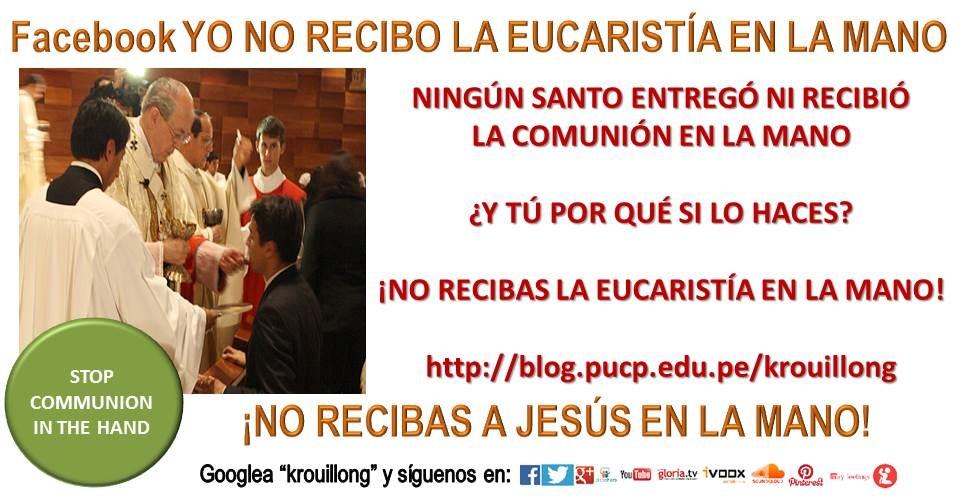 cardenal juan luis cipriani krouillong no recibas la eucaristia en la mano