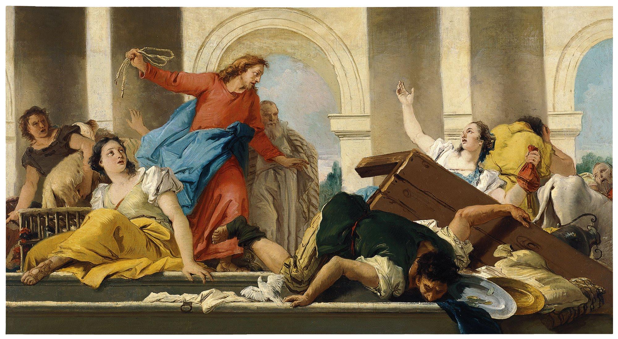 Jesus expulsa a los mercaderes del templo krouillong comunion en la mano es sacrilegio