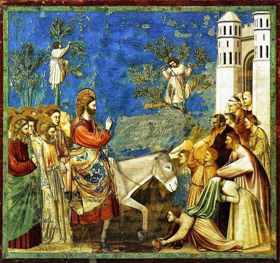 Jesus ingresa en Jerusalen borrico krouillong comunion en la mano sacrilegio 2