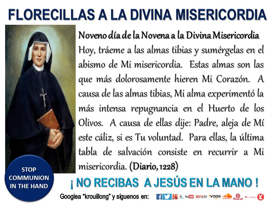 novena a la divina misericordia krouillong comunion en la mano noveno dia