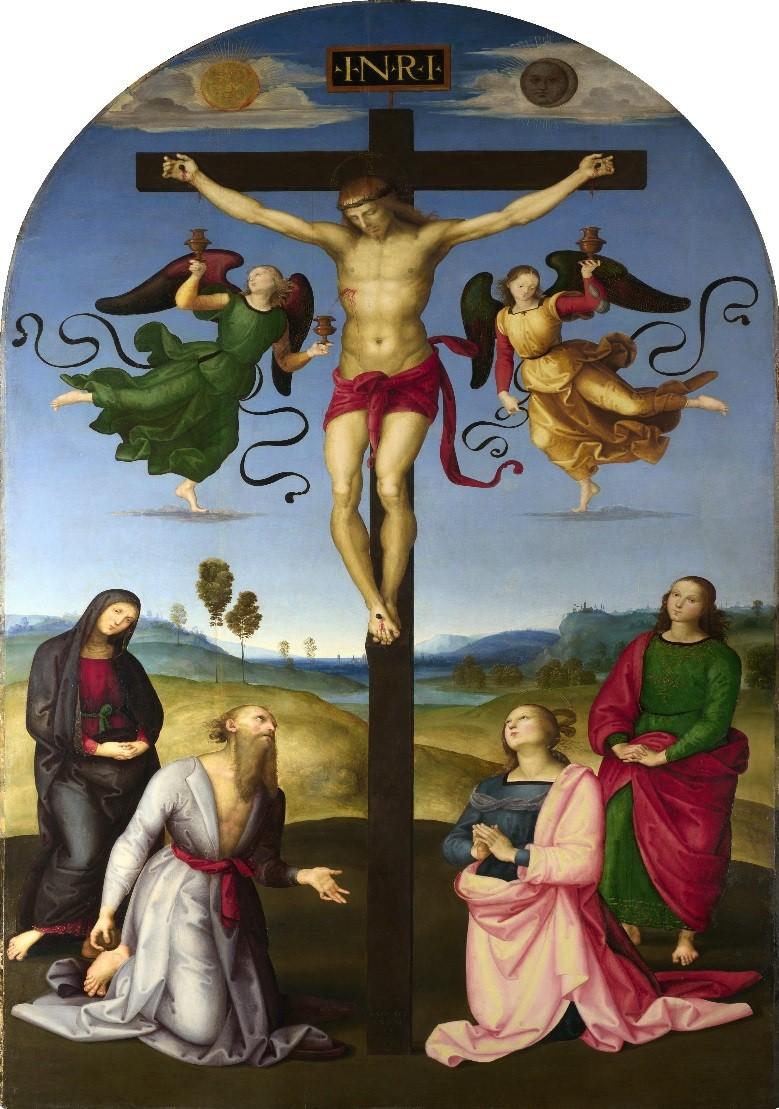 Crucifixión Mond, Rafael Sanzio krouillong comunion en la mano es sacrilegio