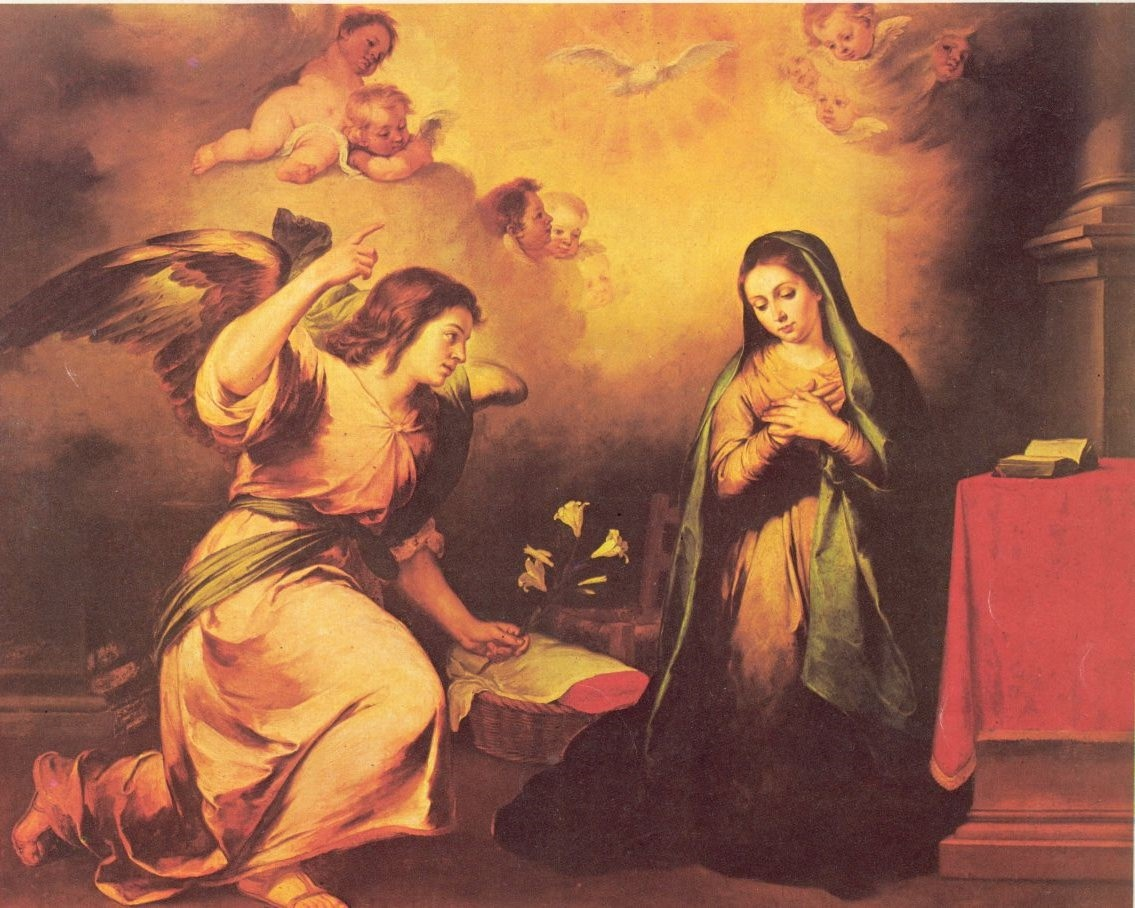Anunciacion El Angelus krouillong comunion en la mano es sacrilegio