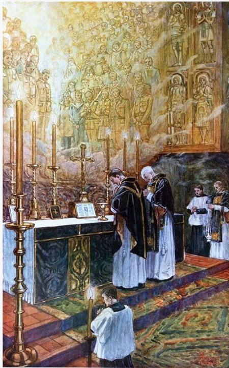 la santa misa krouillong comunion en la mano