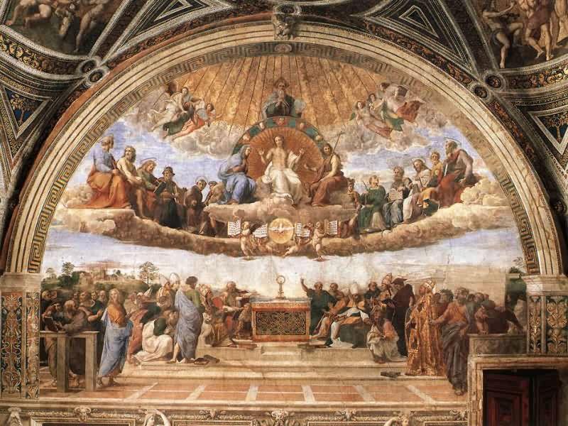 eucaristia Raffaello santa misa sobrenatural krouillong comunion en la mano