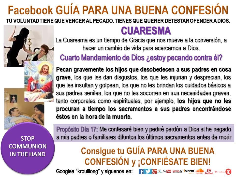 cuaresma guia para una buena confesion krouillong pecados capitales comunion en la mano