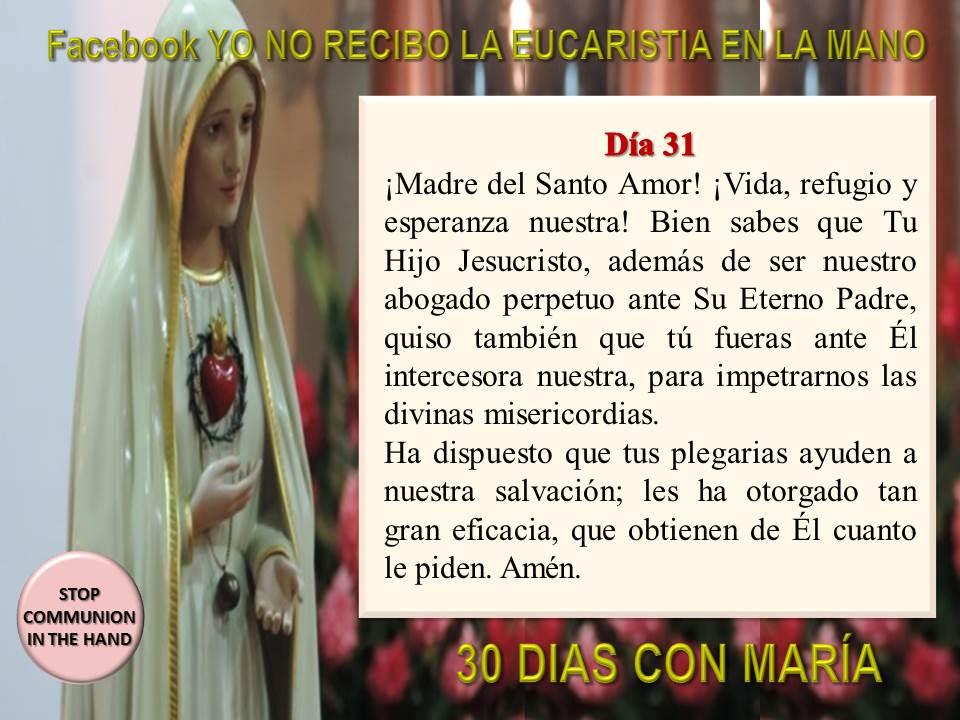 30 dias con maria krouillong comunion en la mano