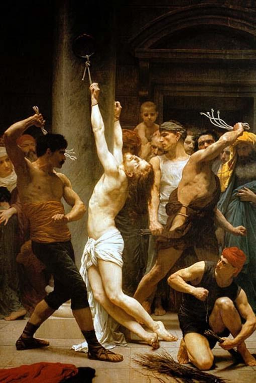 la flagelación de jesús krouillong comunion en la mano