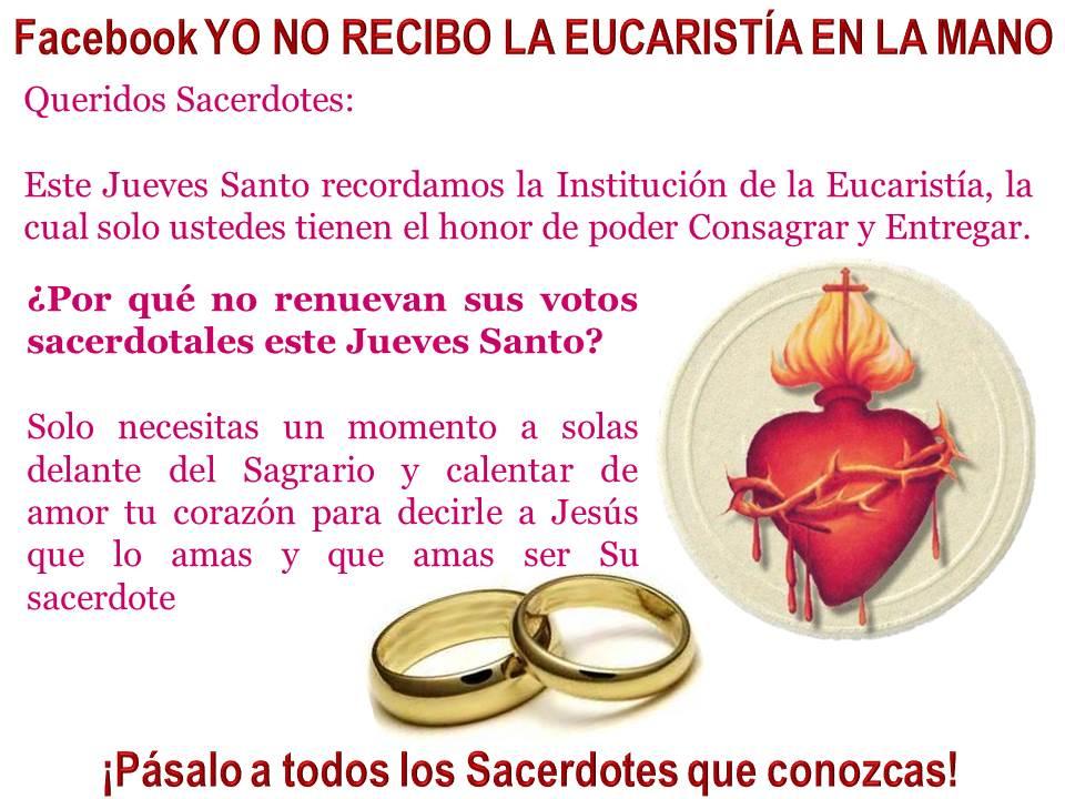 jueves santo renovacion de votos sacerdotales krouilong comunion en la mano