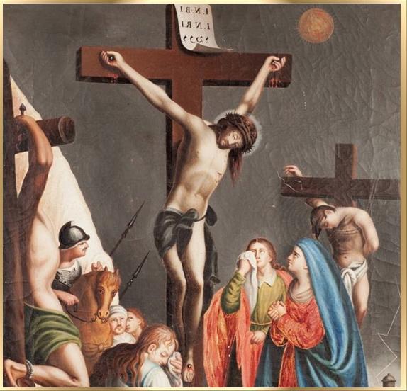 jesus es crucificado la crucifixion de jesus krouillong comunion en la mano