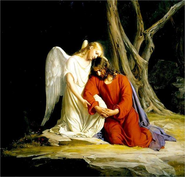 jesus en el huerto de los olivos getsemaní krouillong comunion en la mano