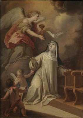 santa catalina de siena krouillong comunion en la mano