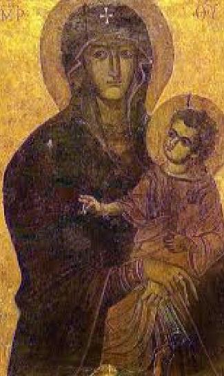 Icono Virgen Maria Salus Populi Romani krouillong comunion en la mano sacrilegio