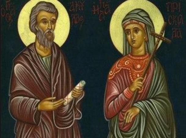 Priscila y Áquila esposos discipulos de San Pablo krouillong comunion en la mano sacrilegio