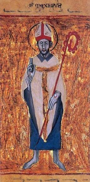 San Maximo de Turin krouillong comunion en la mano sacrilegio