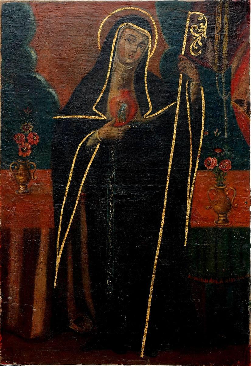 Santa Gertrudis de Helfta krouillong comunion en la mano sacrilegio