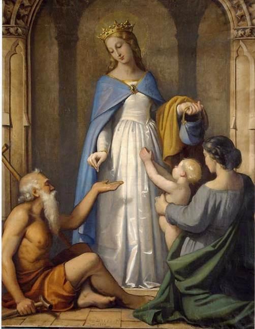 Santa Isabel de Hungria krouillong comunion en la mano sacrilegio