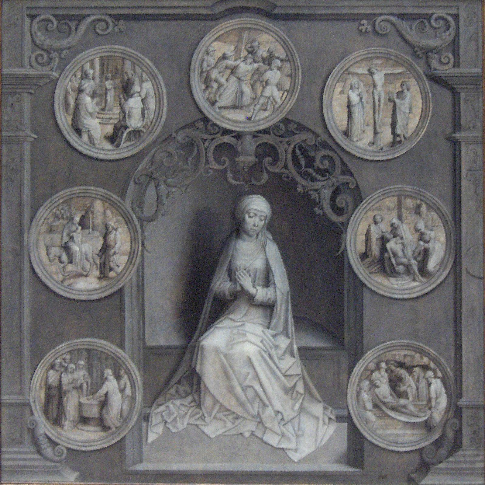 Díptico de Notre -Dame de los Siete Dolores de la Virgen de Brugge Voorzijde
