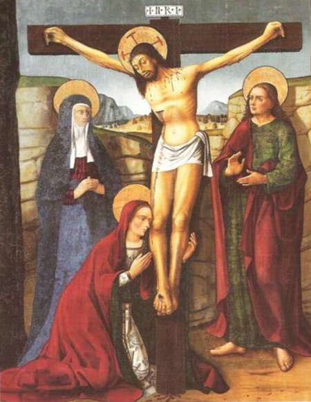 Jesus crucificado Crucifixion krouillong comunion en la mano sacrilegio 2