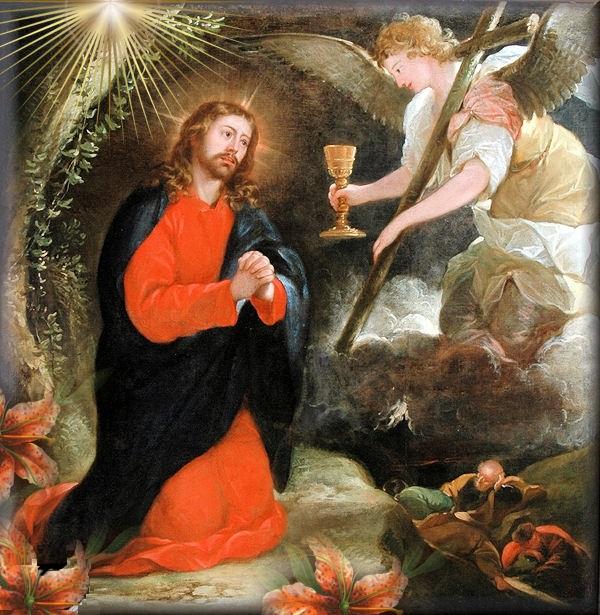 Jesus en el Huerto de Getsemani krouillong comunion en la mano sacrilegio 1